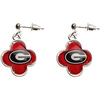 Georgia Quatrefoil Earrings | UGA Earrings | Georgia Bulldogs Earrings