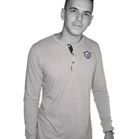 SHAKE APART PATCHED HENLEY - HENLEY / ECO NICKEL /