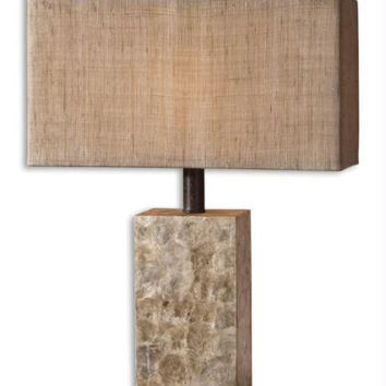 Table Lamp - Mother Of Pearl Shell