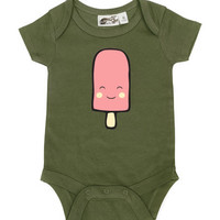 Popsicle Olive & Pink One Piece