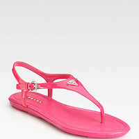 Prada - Patent Leather Thong Sandals