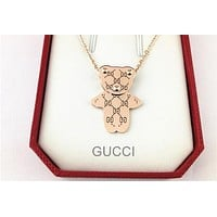 Gucci Heart Type Bear Sweater Chain Necklace