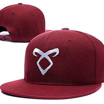 ZZZB The Mortal Instruments Logo Transparent Adjustable Snapback Embroidery Hats Caps - Red