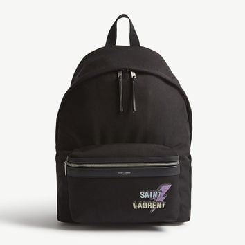 SAINT LAURENT City canvas backpack