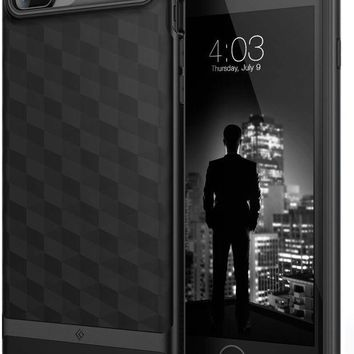VONEXO9 Caseology Parallax Series iPhone 7 Plus / 8 Plus Cover Case with Design Slim Protective for Apple iPhone 7 Plus (2016) / iPhone 8 Plus (2017) - Matte Black