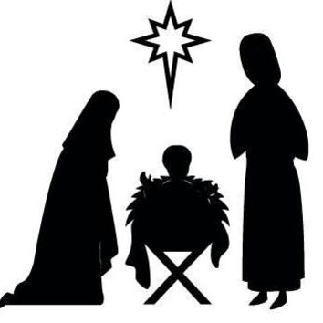 Baby Jesus Mary, Xmas Vinyl Decal, Die Cut VinylYeti Decal, Car Decal Sticker, Car Window Bumper,  Truck, Laptop Ipad,  Notebook, Computer,