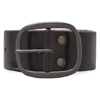 Linea Pelle Vintage Multi Hole Belt in Black