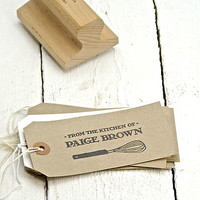 Personalised Kitchen Whisk Rubber Stamp