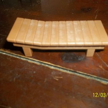 vintage playmobil geobra brown lounge chair doll house furniture