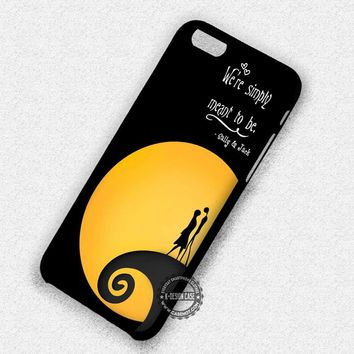 Sally and Jack Quotes Nightmare Before Christmas - iPhone 7 6 Plus 5c 5s SE Cases & Covers