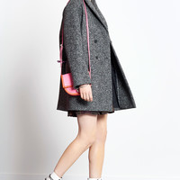 Felted wool coat