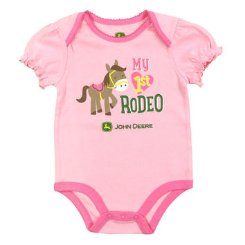 John Deere Infant Girls' Rodeo Onesuit