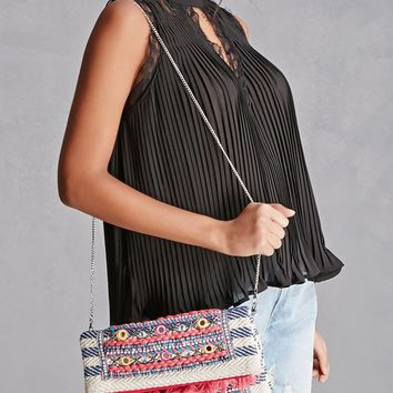 America & Beyond Embroidered Bag