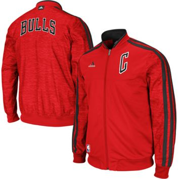 adidas Chicago Bulls On-Court Weekday Full Zip Track Jacket - Red
