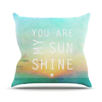 "Alison Coxon ""You Are My Sunshine"" Outdoor Throw Pillow"