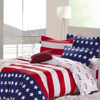 Cotton USA Stars and Stripes Bedding Set