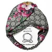 GUCCI G home spring and summer holiday geranium flowers monogrammed silk silks to lead the headband.