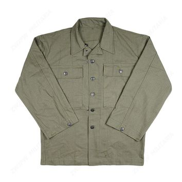 WW2 US ARMY SOLDIER FIELD GREEN HBT JACKET PURE COTTON MILITARY UNIFORM IN SIZES - World military Store