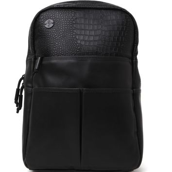 Focused Space Veneer School Backpack - Mens Backpacks - Black - NOSZ