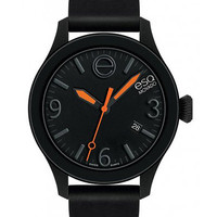 ESQ Movado One Unisex Strap Watch - Black Dial & Silicone-Wrapped Case - Date