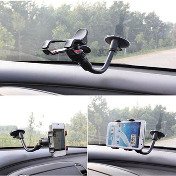 [Car Phone holder]Hight Quality Car Window Windshield Mount Holder For iPhone5 5S 6S 6 Plus Sumsung mobile Phone GPS Camera