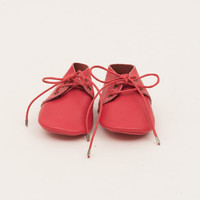 Lace-Up Leather Baby Moccasins Red