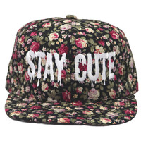 Stay Cute All over Floral Snapback