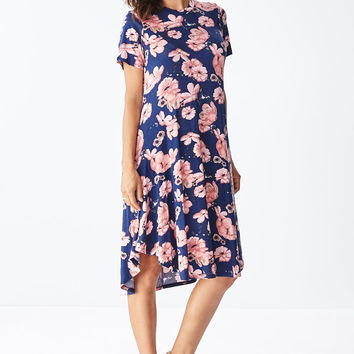 Lounge till Tomorrow Swing Dress in Navy