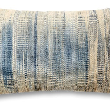 Dip-Dye 14x22 Wool-Blend Pillow, Blue, Decorative Pillows