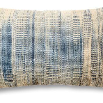 dip dye 14x22 wool blend pillow blue decorative pillows - Blue Decorative Pillows