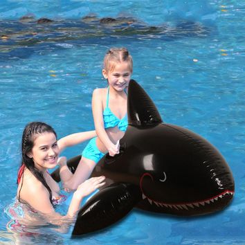170cm 67inch Giant Inflatable Dolphin Whale Shark Pool Float Swimming Rings Air Mattress Floating Sea Island Toys for Adult Kids