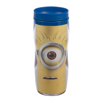 universal studios despicable me minions tumbler travel coffee mug new
