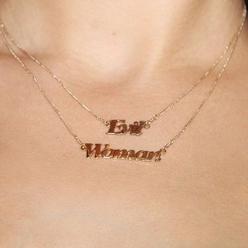 Evil Woman Necklace Set
