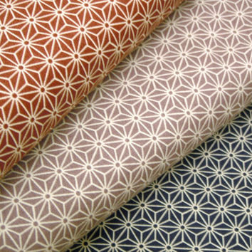 Asanoha Japanese cotton fabric set for quilting craft