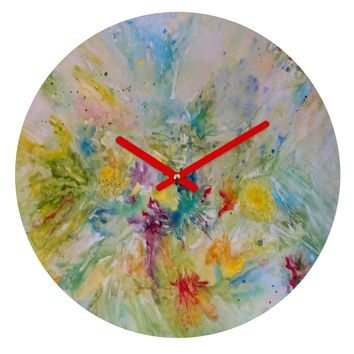 Rosie Brown Spring Burst Round Clock