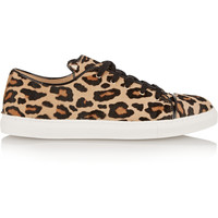 Charlotte Olympia - Purrrfect leopard-print calf hair sneakers