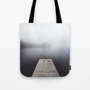 Fading into the mist Tote Bag by happymelvin