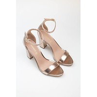 Bella Block Heel - Rose Gold - Madden Girl