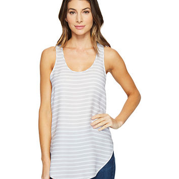 HEATHER Silk Scoop Tank Top