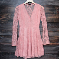 so baroque about you romantic lace dress in desert rose