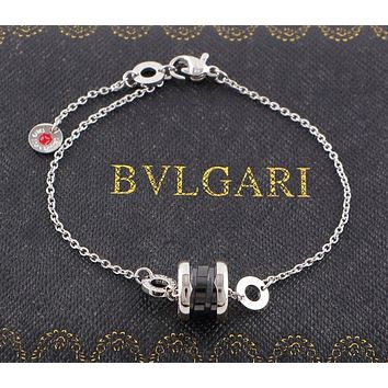 BVLGARI 2018 new fashion black ceramic bracelet charity small red bracelet F-HLYS-SP