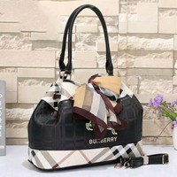 Burberry Women Leather Shoulder Bag Tote Handbag Satchel G-LLBPFSH