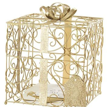Reception Gift Card Holder Style 1943, Gold