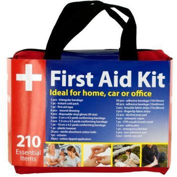 First Aid Essential Things Kit In Easy Access Carrying Case