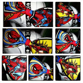 Geek Chic: Spiderman Red Blue Yellow Marvel Spiderman Comic Hair Bow