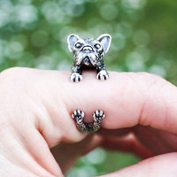 French Bulldog Adjustable wrap Rings