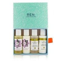 Ren Body Travel Kit: 2x Body Wash 50ml, 1x Body Lotion 50ml, 1x Body Cream 50ml Skincare