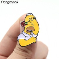 L3047 Simpson funny Enamel Pin for Backpack/Bag/Jeans Clothes Badge lapel pin brooch Jewelry 1pcs