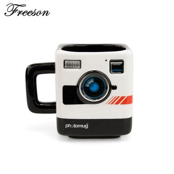Retro British Polaroid Camera Coffee Mug