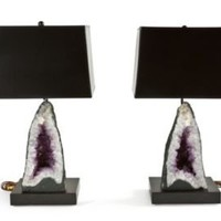 One Kings Lane - Tish Mills - Cathedral Geode Lamps, Pair